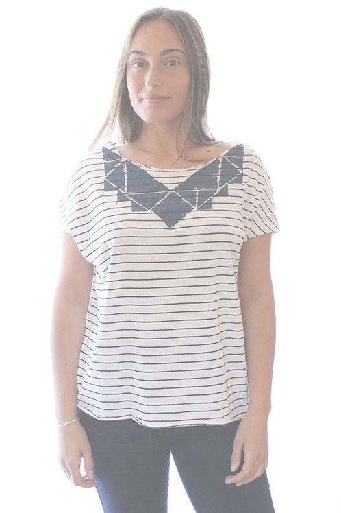 Triangle Blue & White printed shirt