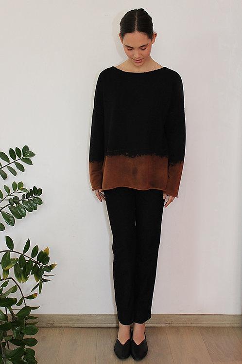 Hand-dyed Black sweatshirt