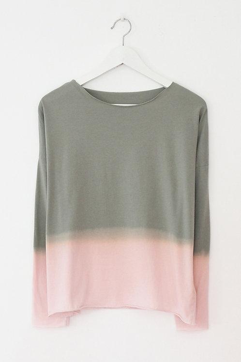 Hand-dyed Khaki long sleeves shirt