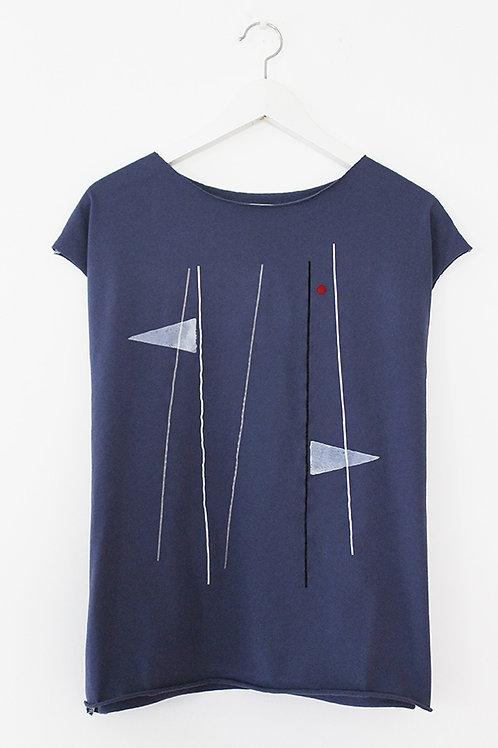 Mast & sails printed Blue shirt