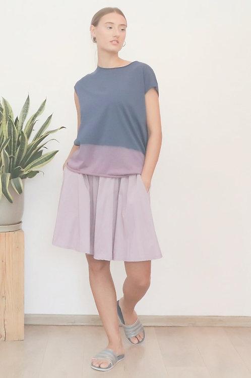 Hand-dyed Blue & Purple shirt