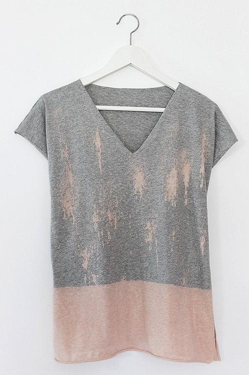Hand-dyed Grey Kaftan style top