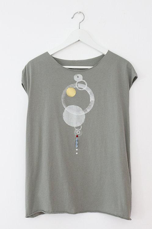 Circles printed Sage Green shirt
