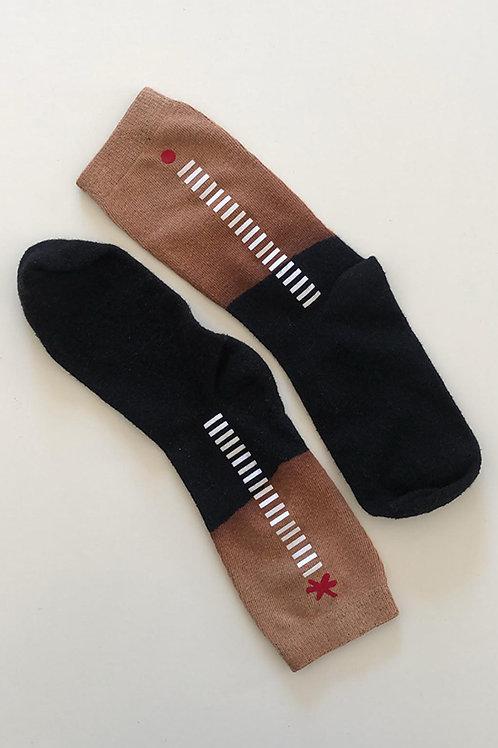 Hand-dyed Black Men's socks