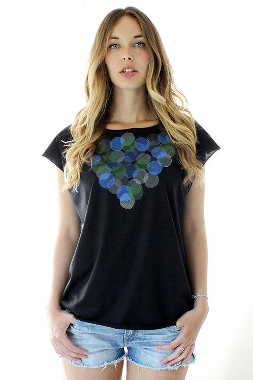 Hand-printed Circles summer shirt