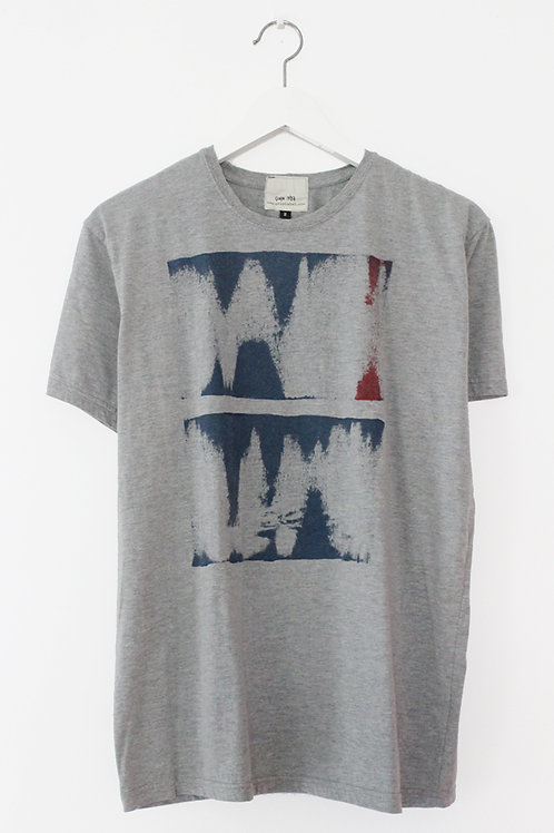Abstract Print heather Grey T