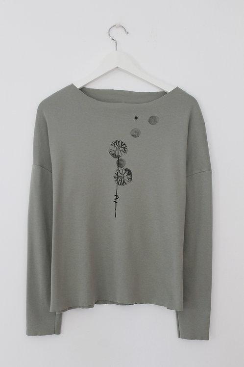 Dandelion printed Sage Green shirt