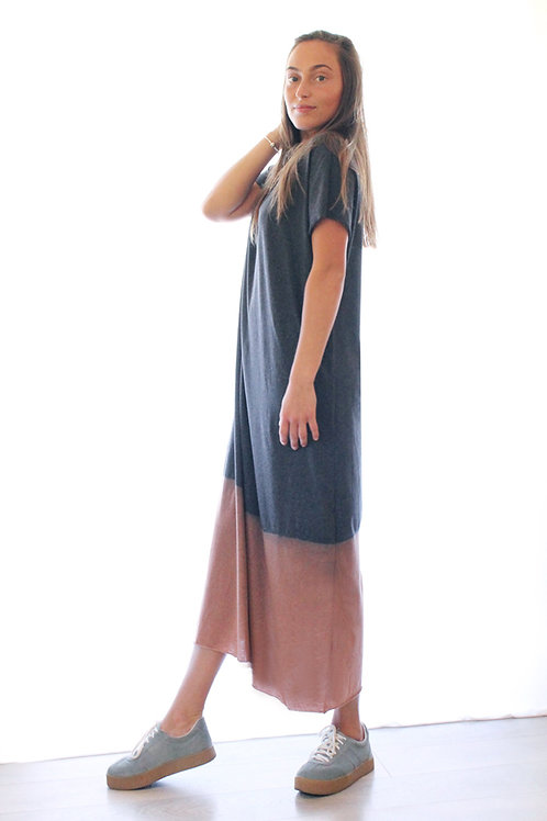 Hand-dyed Charcoal maxi dress
