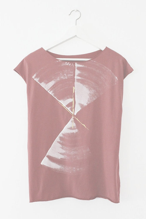 Smoked Red shirt with abstract print