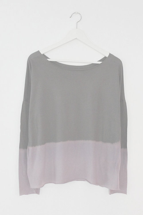 Hand dyed Grey & Purple shirt