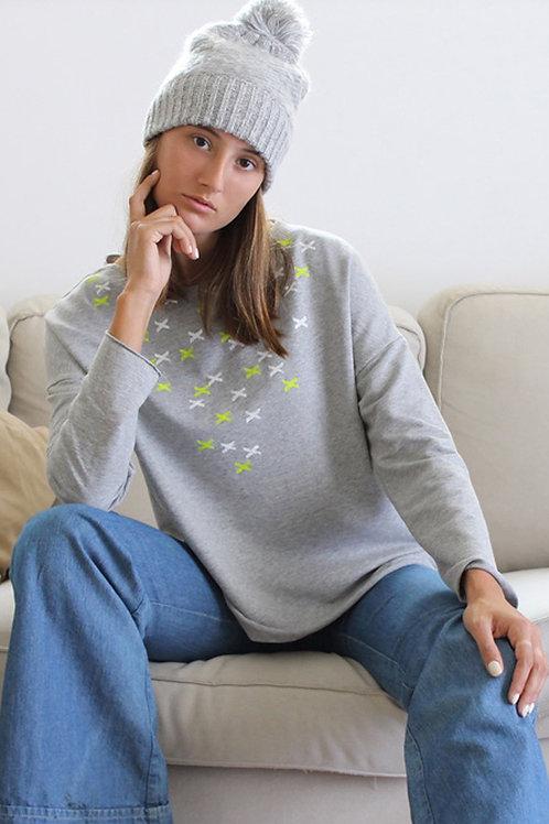Grey sweatshirt with XX print