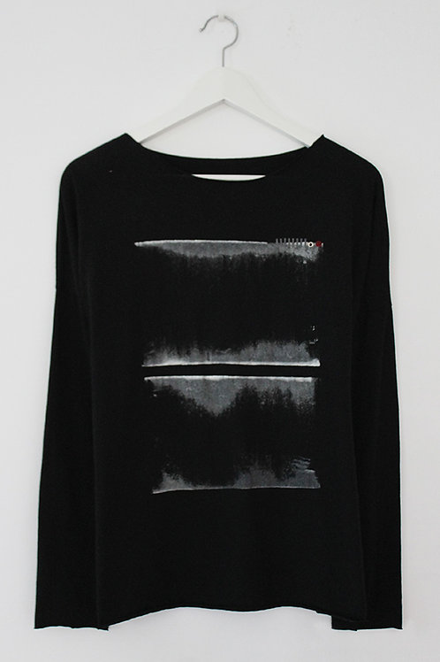 Black T-shirt with abstract Print