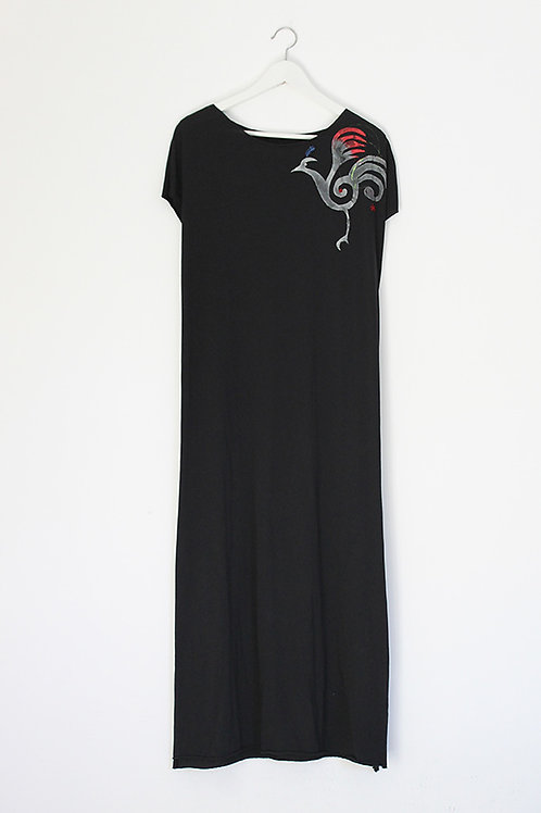 firebird printed Black summer dress