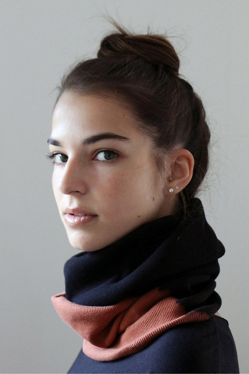 Hand-dyed Black & Brown scarf
