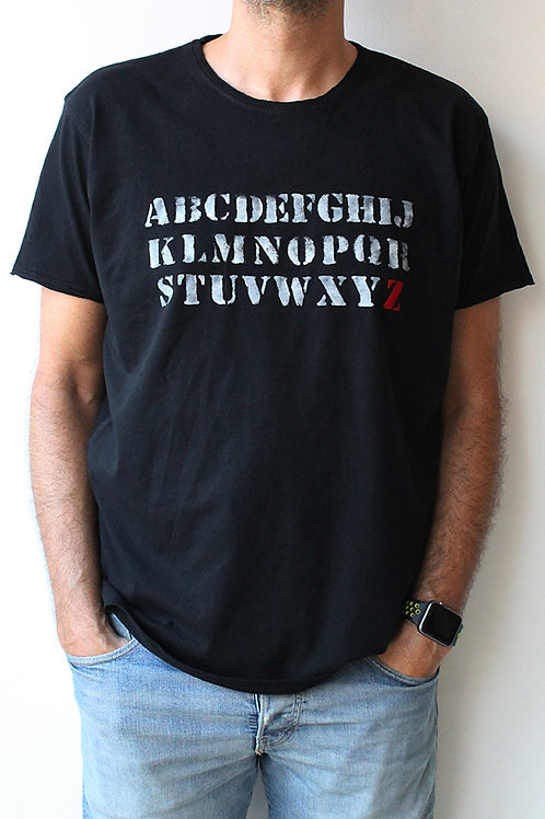 Personalized ABC Black T-shirt