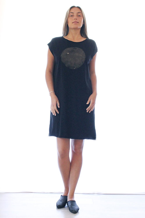 Cooper moon Black printed T dress