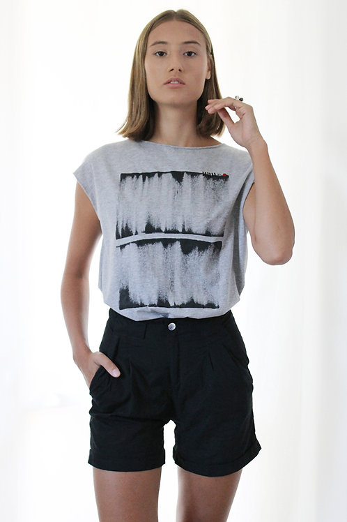 Grey summer shirt with abstract Print