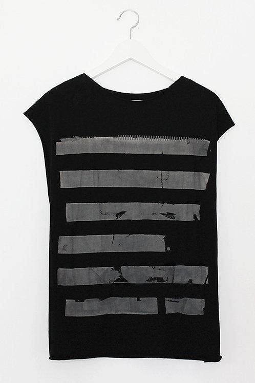 Black summer shirt with Grey stripes