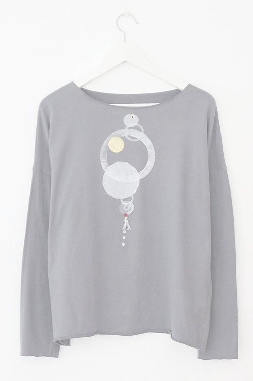 White circles printed Grey shirt