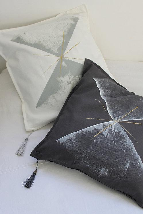 Abstract printed Grey Cushion cover