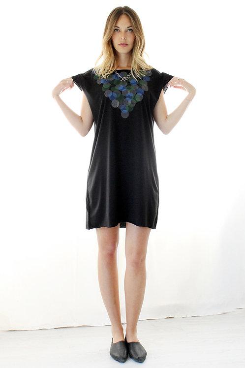 Hand-printed Circles summer dress