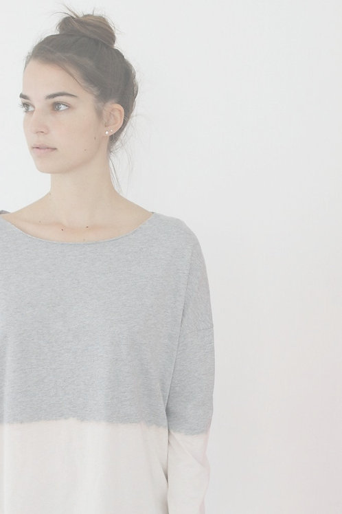 Hand dyed Heather grey T shirt