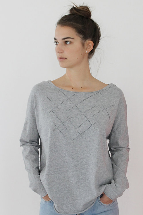 Grey shirt with puffed dots print