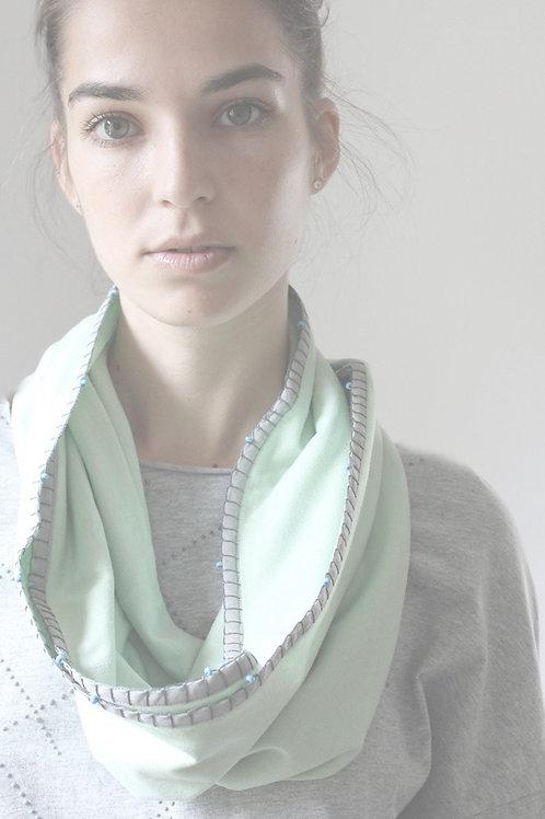 Handmade Mint & Grey loop scarf