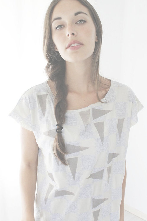 Checkers & Triangles printed shirt