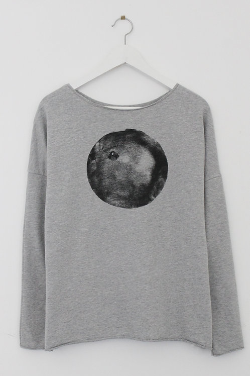 Black moon Grey color sweatshirt
