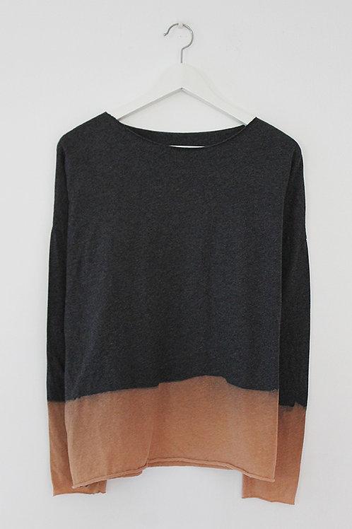 Hand-dyed Charcoal & Mocha shirt