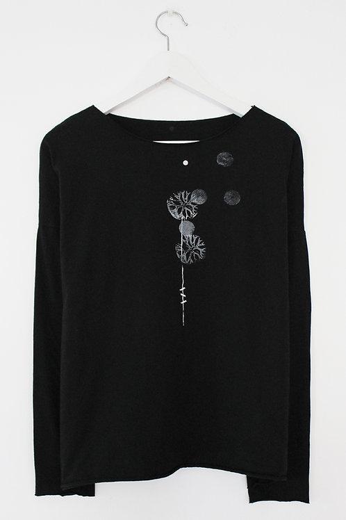 Dandelion printed Black shirt