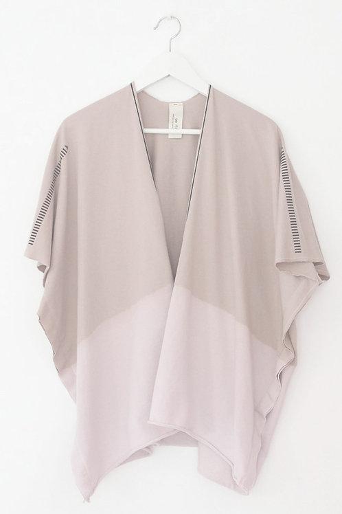 Powder pink throw on sweatshirt