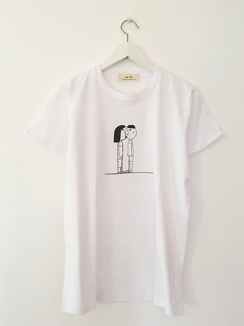 White shirt with Black drawing