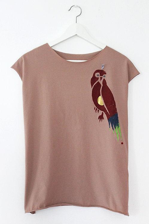 Wild parrot printed summer shirt
