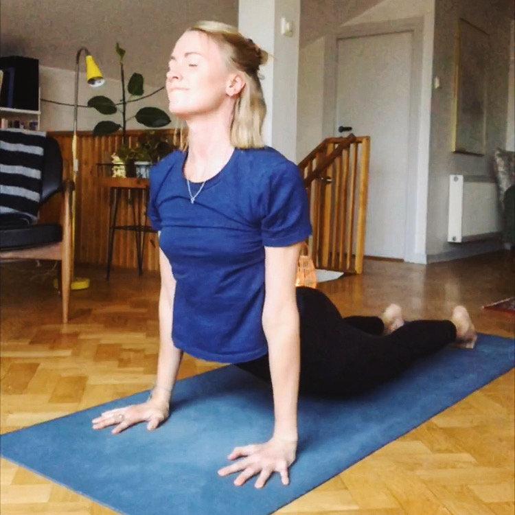 Yoga classes on Instagram