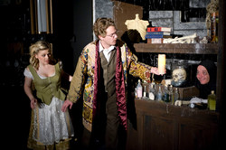 Dr Frederick Frankenstein and Inga