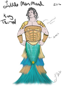 King Triton Sketch