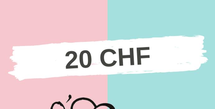 Bon Cadeau 20 CHF