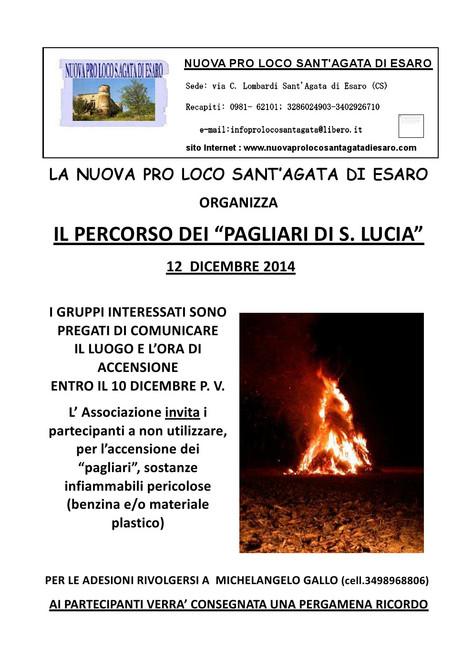 """Il percorso dei """"pagliari di S. Lucia"""""""