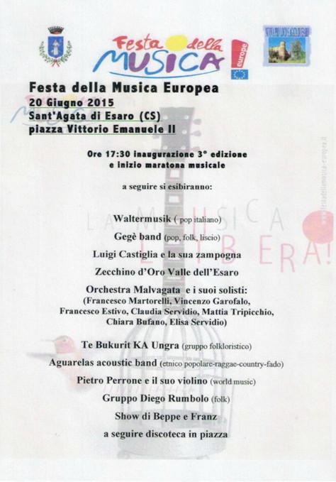 Programma Festa della Musica