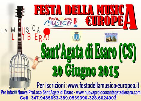 La Festa della Musica europea sta arrivando...