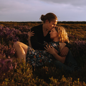 Golden Hour Peak District Couples Shoot