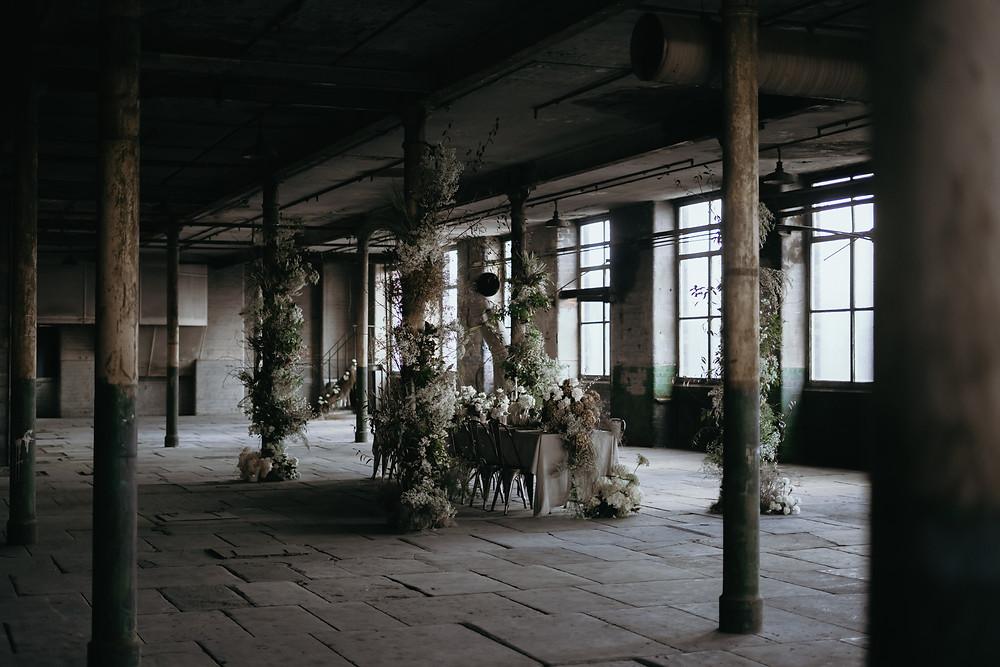 industrial wedding botanicals