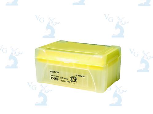 Rack puntas 0.5-200ul pre-esterilizadas c/96pz