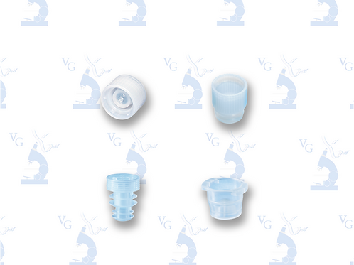 Tapones a presión/roscados compatibles con tubos de fondo falso