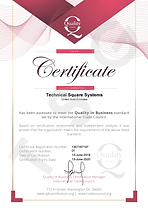 Technical Square Systems Certificate Quality Assured