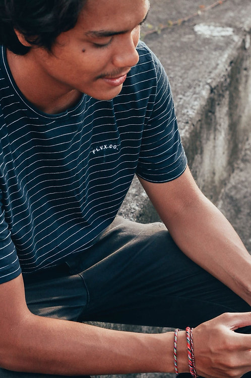 STRIPES TEE NAVY.