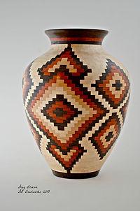 Aztec Crest Vase