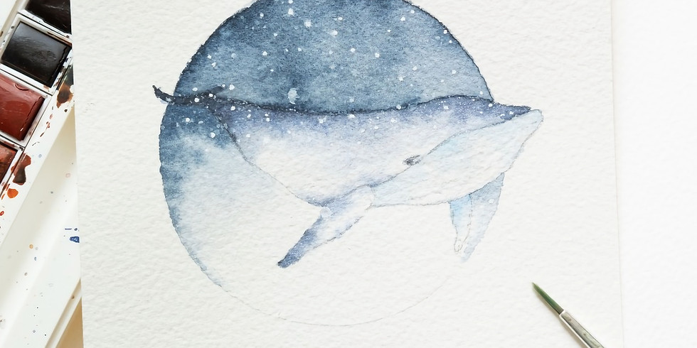 Rains   鯨魚水彩畫